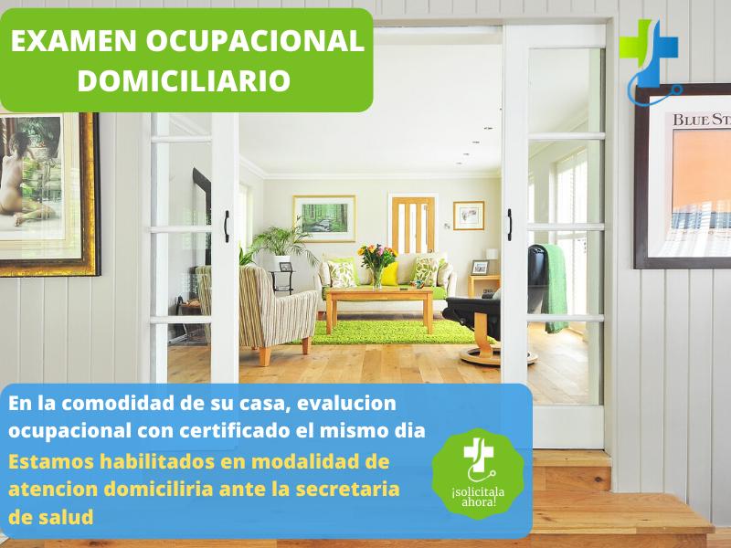 Examen Ocupacional en su casa