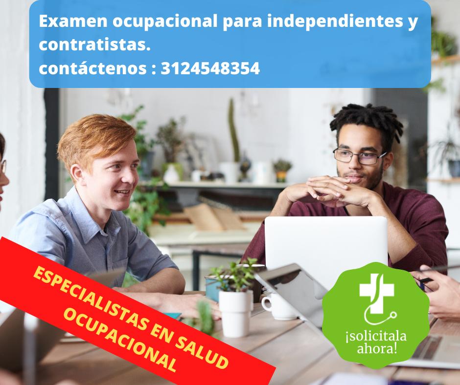 Examen preocupacional trabajadores independientes Forjar Salud